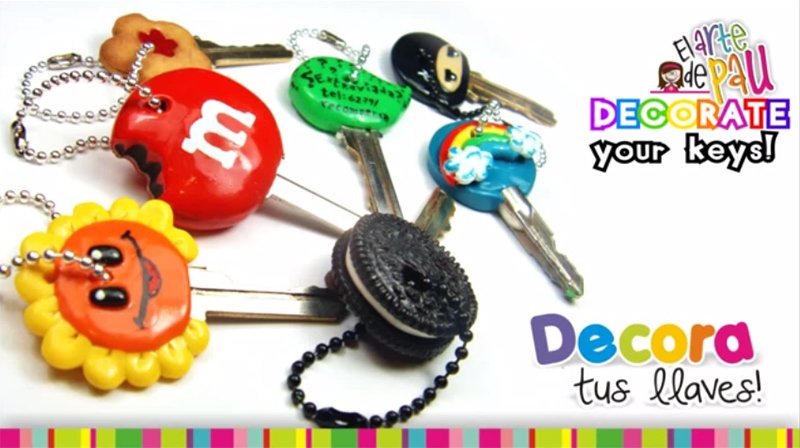 Decorate your keys with Polymer clay
