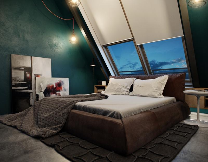 slanting ceiling bedroom