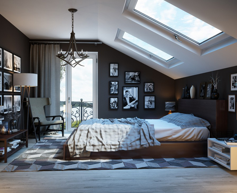 bedroom roof window