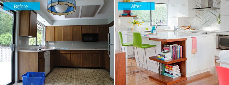 master before after kitchen