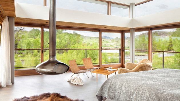 20 Contemporary Bedrooms With A Beautiful Outdoor View From Glass Windows |  Home Design Lover