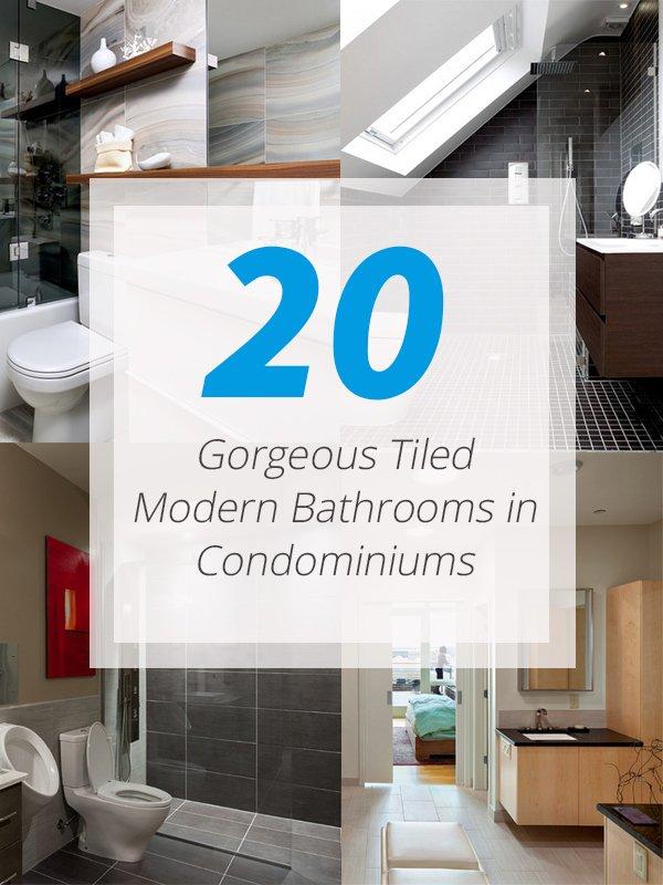 20 Gorgeous Tiled Modern Bathrooms in Condominiums | Home ...