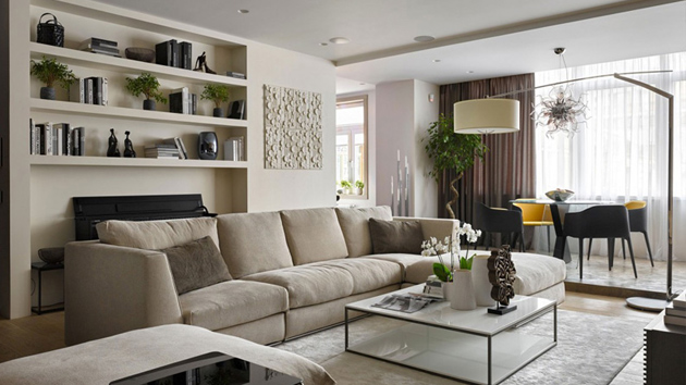 Graceful and Smart Interior Ideas of the Country House in Moscow, Russia