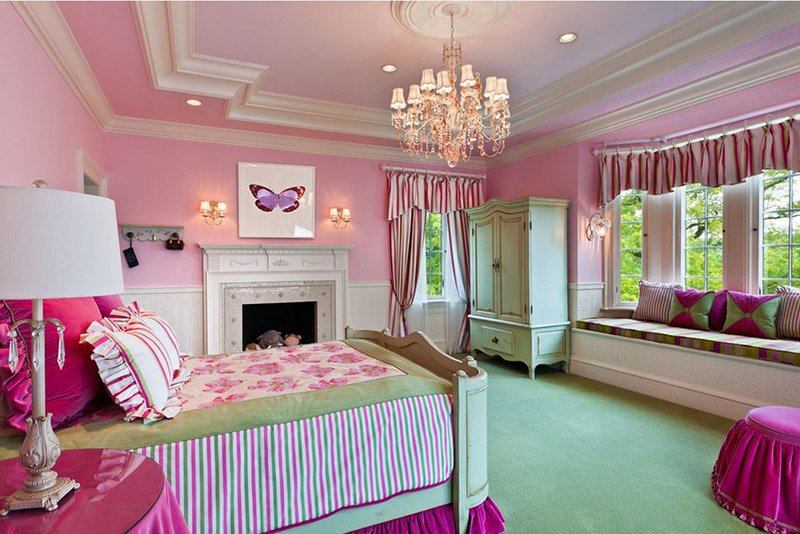 20 fun pink and green bedroom designs home design lover Fun teen rooms