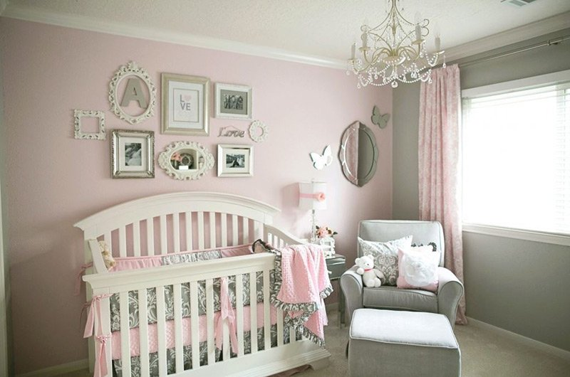 20 Elegant and Tranquil Pink and Gray Bedroom Designs ...