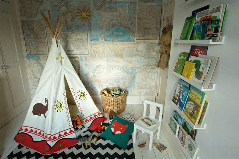 teepee reading room