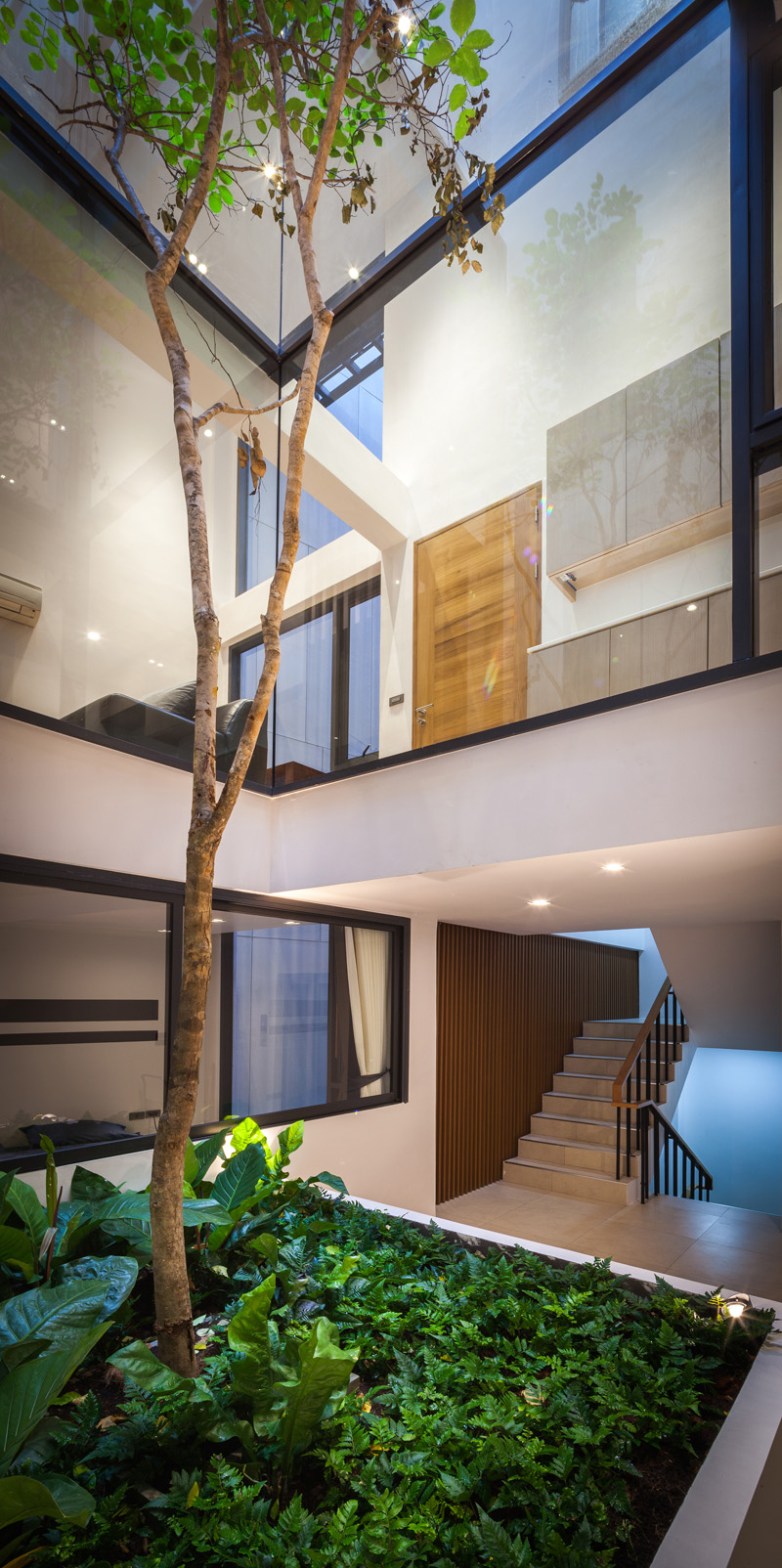 Before After Thailand House tall tree