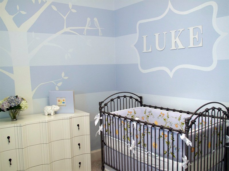 Blue Nursery room