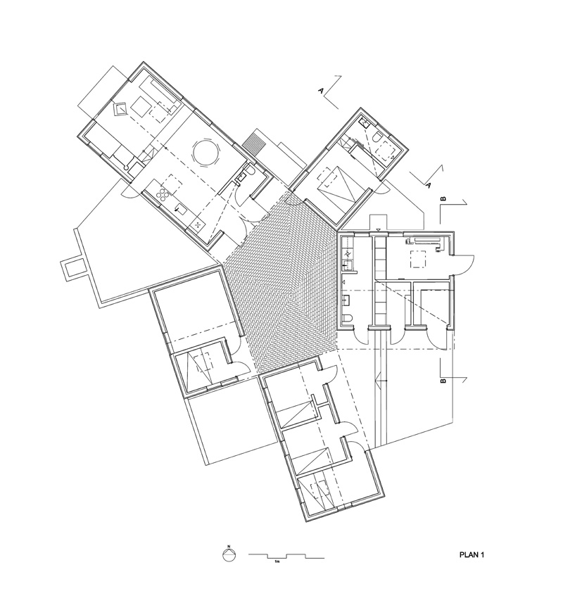 Five Little Houses floor plan