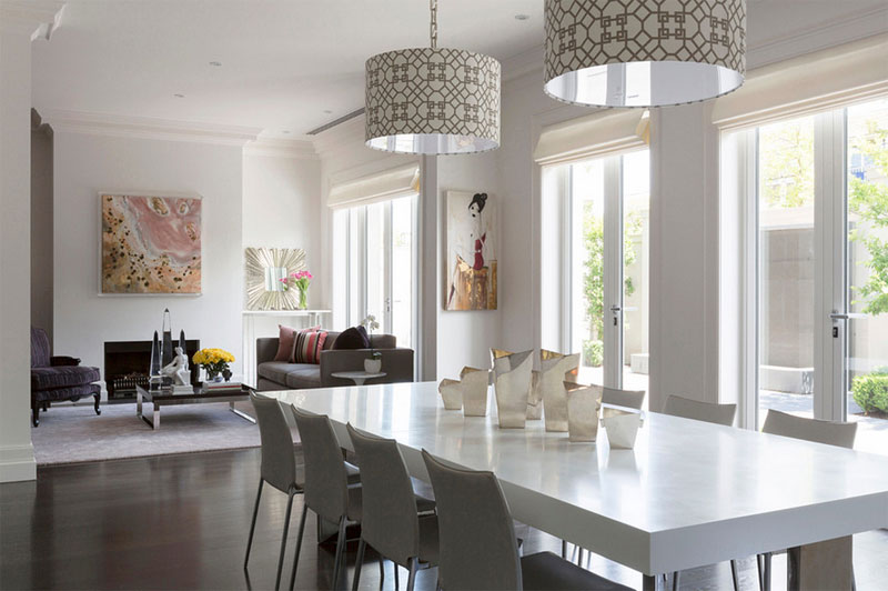 drum shade pendant light with shade
