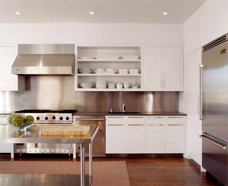 20 Kitchen Designs with Stainless Steel Elements | Home Design Lover