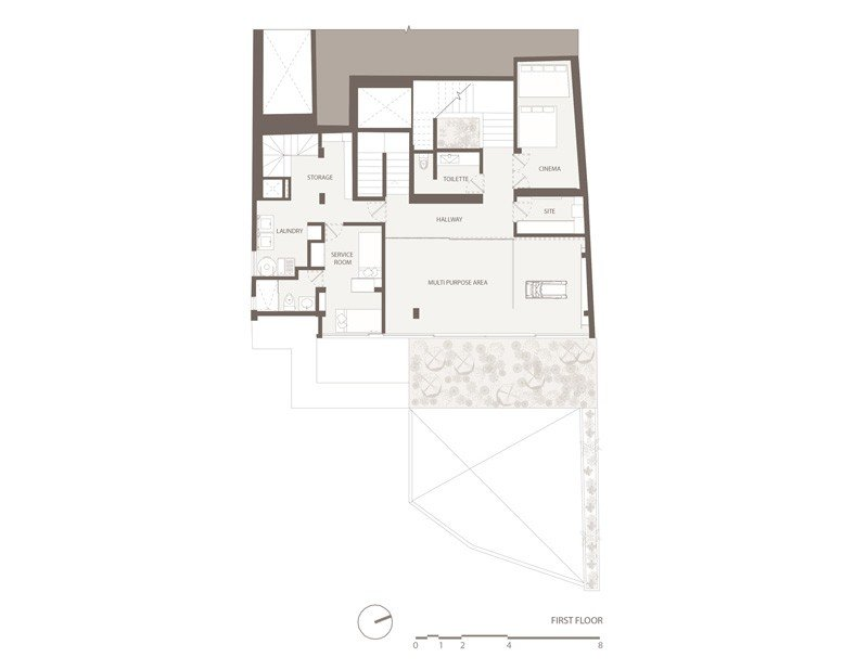 Barrancas House first floor plan