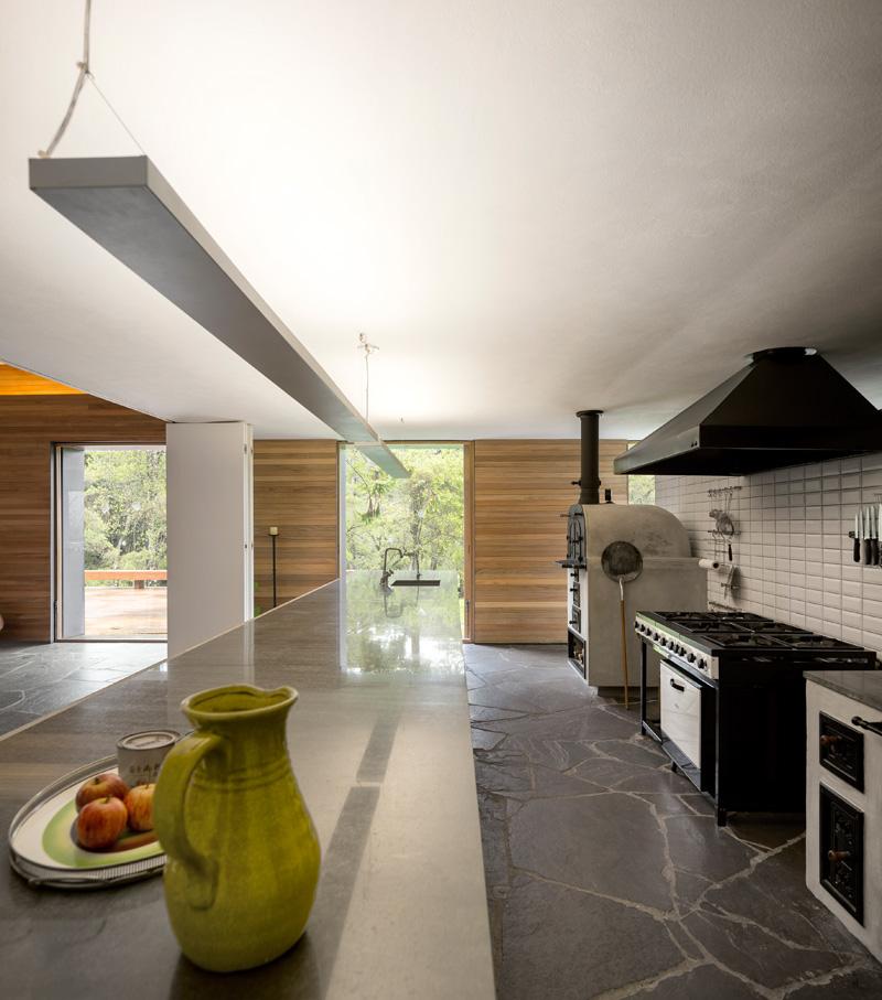 Mororo House kitchen door