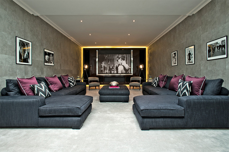 spacious home cinema