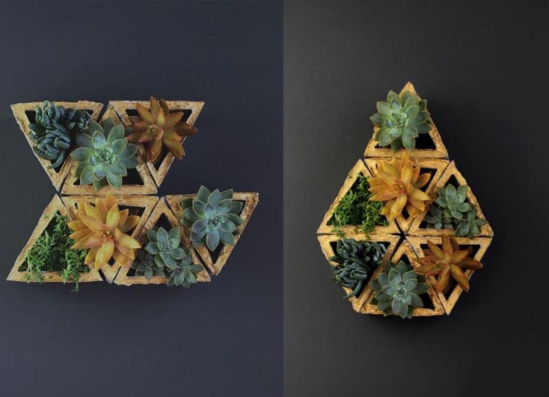 Modular Geometric Wall Planters