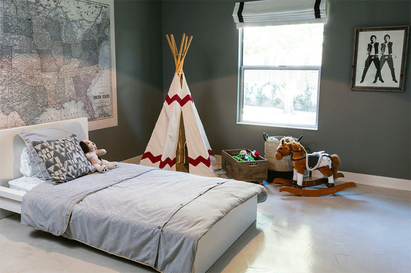 polka dots teepee bedroom