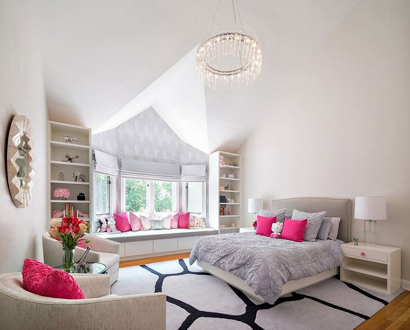 20 Elegant and Tranquil Pink and Gray Bedroom Designs | Home Design ...