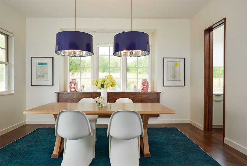 20 different pendant shades for an awesome dining area home navy blue pendant light with shade mozeypictures Images