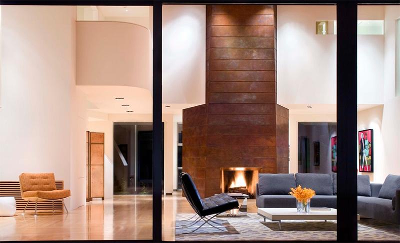 Tall Fireplace