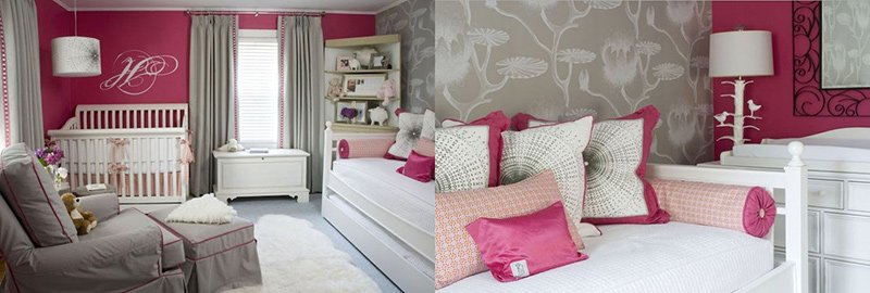 Marvelous Pink And Gray Nursery