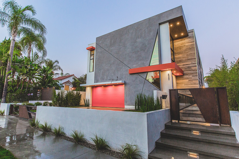 LA West Hollywood Modern Home Features Angular Lines and Geometric ...