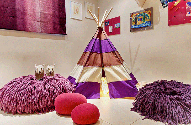 fabric teepee bedroom