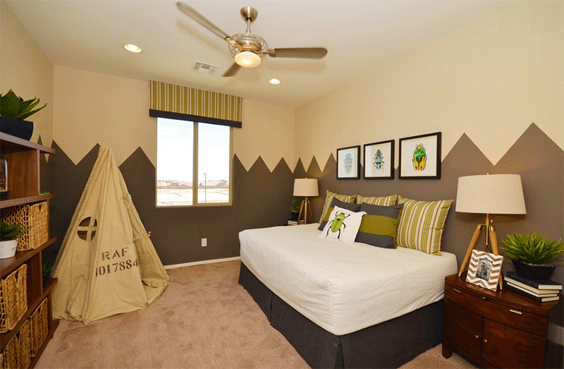 brown teepee bedrooms