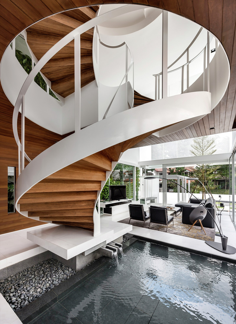 Floating Box House staircase