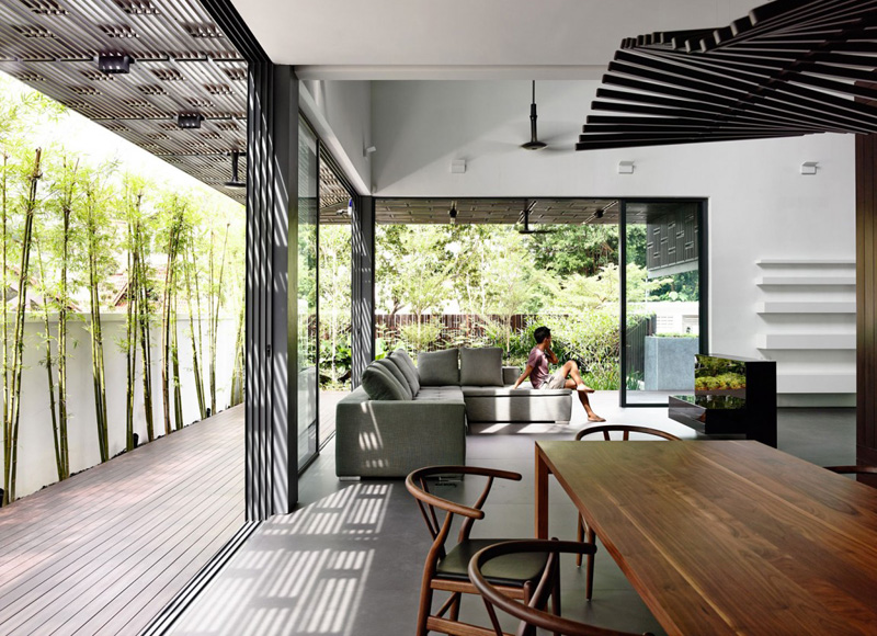 Vertical Courts Living Space and Dining Space