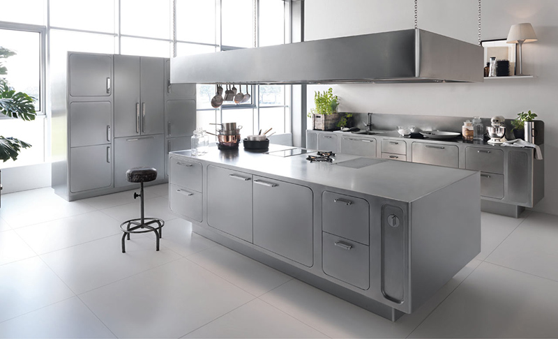 Stainless Steel Kitchen Design 20 kitchen designs with stainless steel elements | home design lover