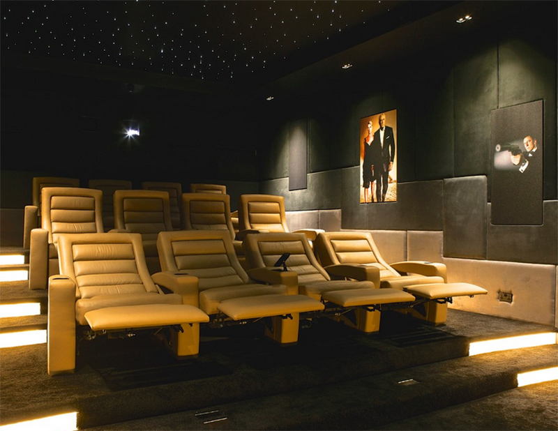 leather cinema chairs