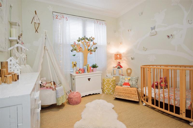 baby teepee room