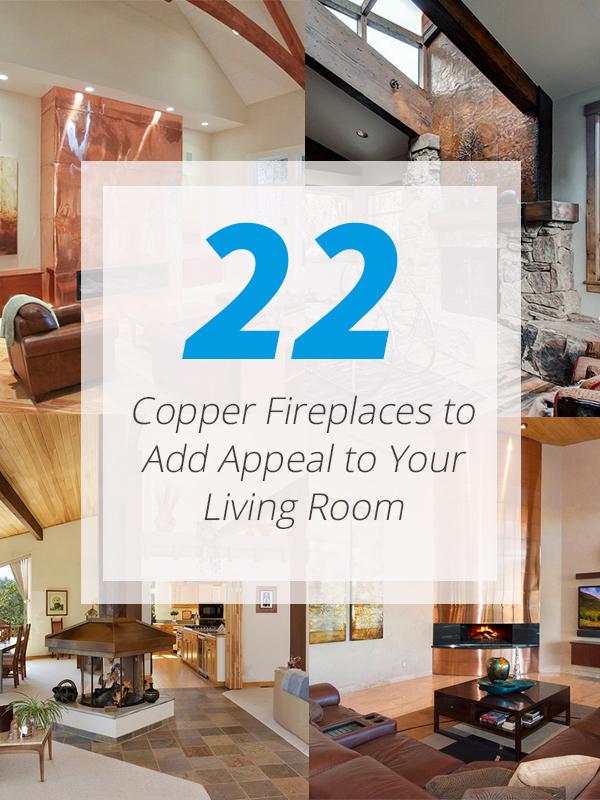 fireplace copper livingroom