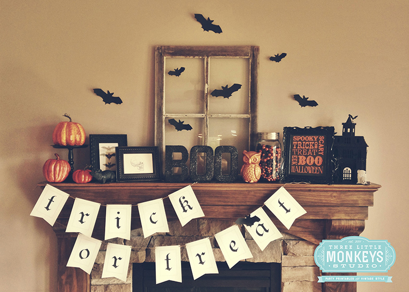 Styling a Halloween Mantel
