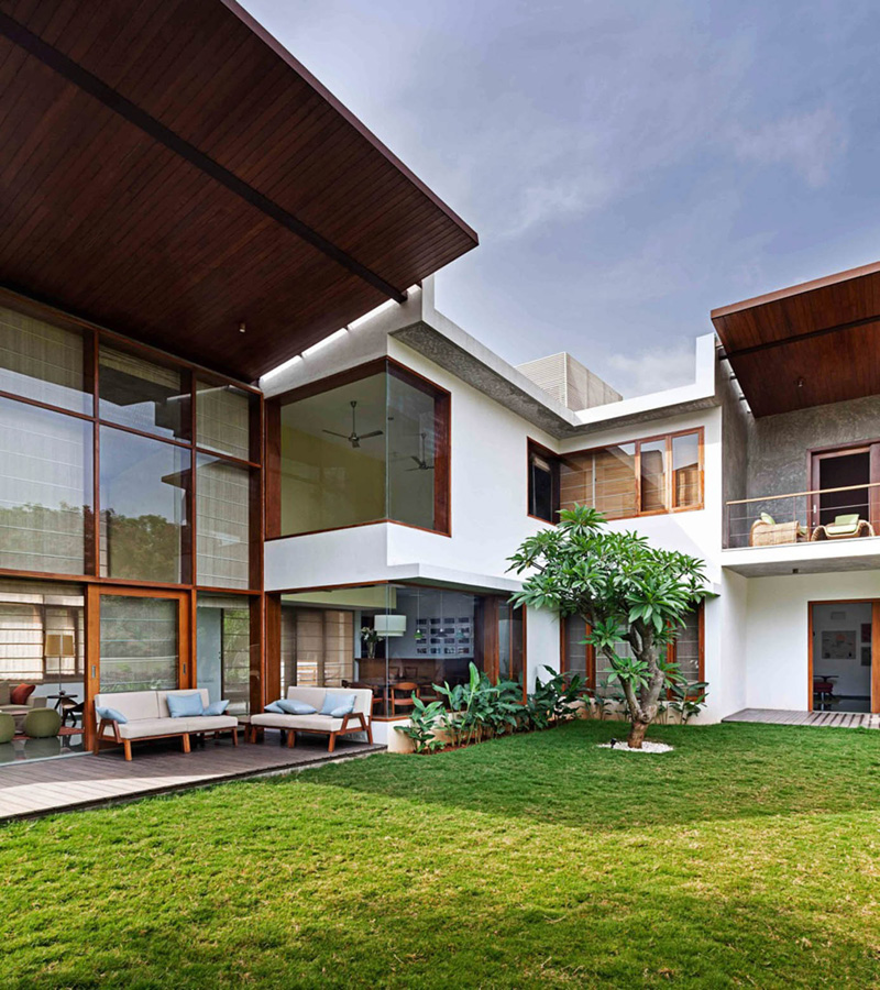 L-Plan House Exterior 3