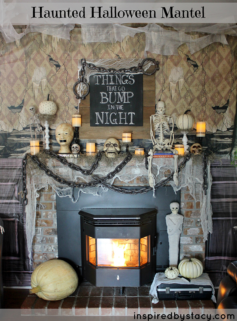 'Things That Go Bump In The Night' Haunted Halloween Mantel
