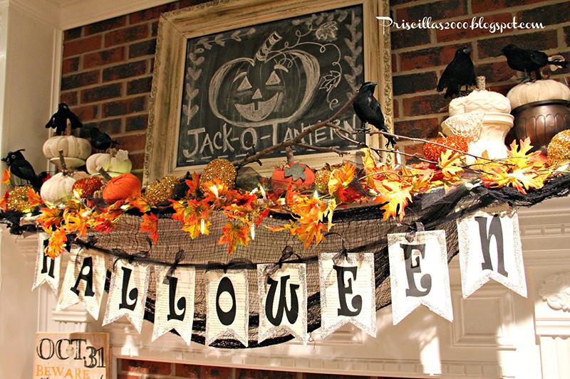 Halloween Mantel 2014