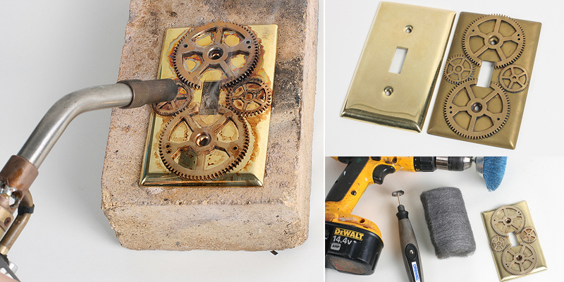 Steam punk Home Decor – Light Switch Plates