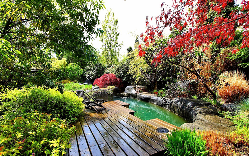 20 outdoor koi ponds to add a refreshing positive garden for The koy pond