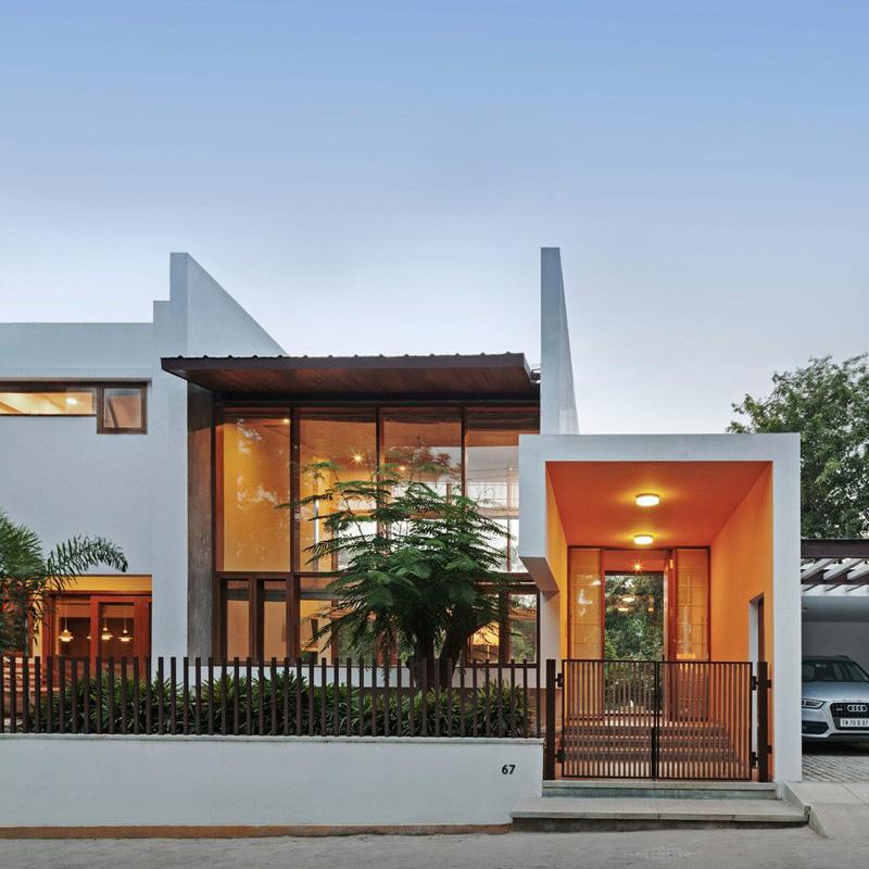 L-Plan House Front