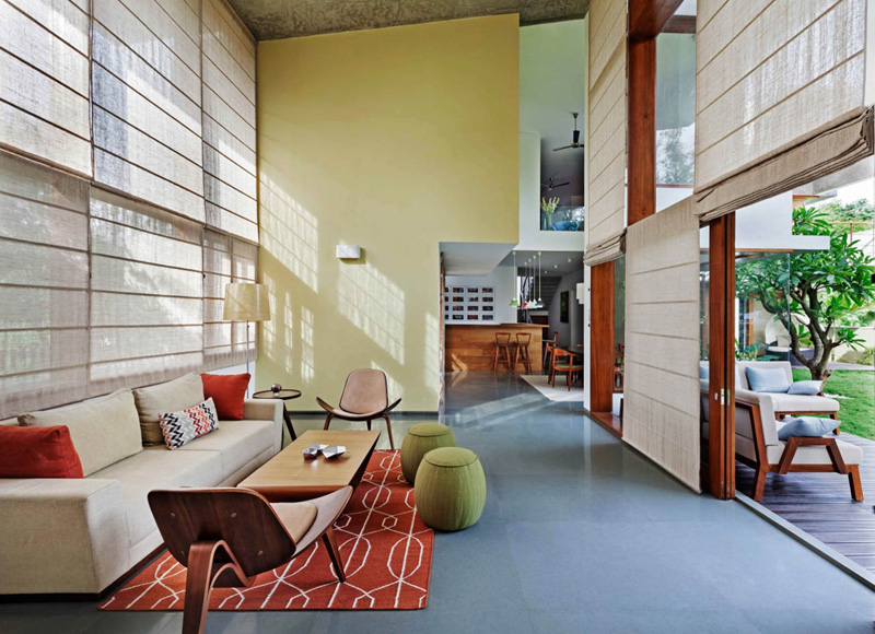 Enchanting And Fascinating Look Expose In The L Plan House In Bangalore India Home Design Lover