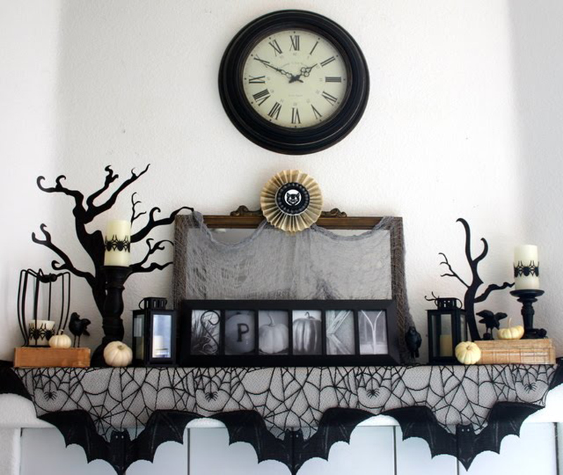 20 DIY Spook-tacular Halloween Mantel Ideas