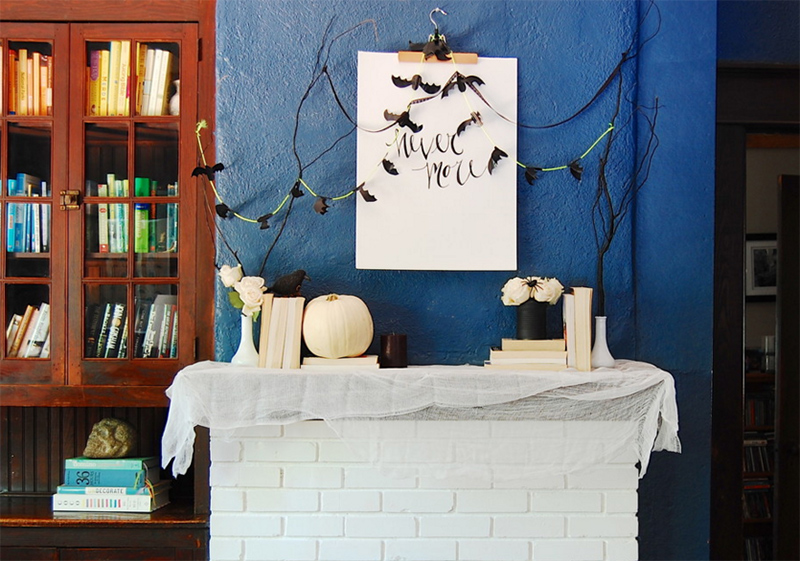 DIY: Halloween and Fall Mantel Inspiration