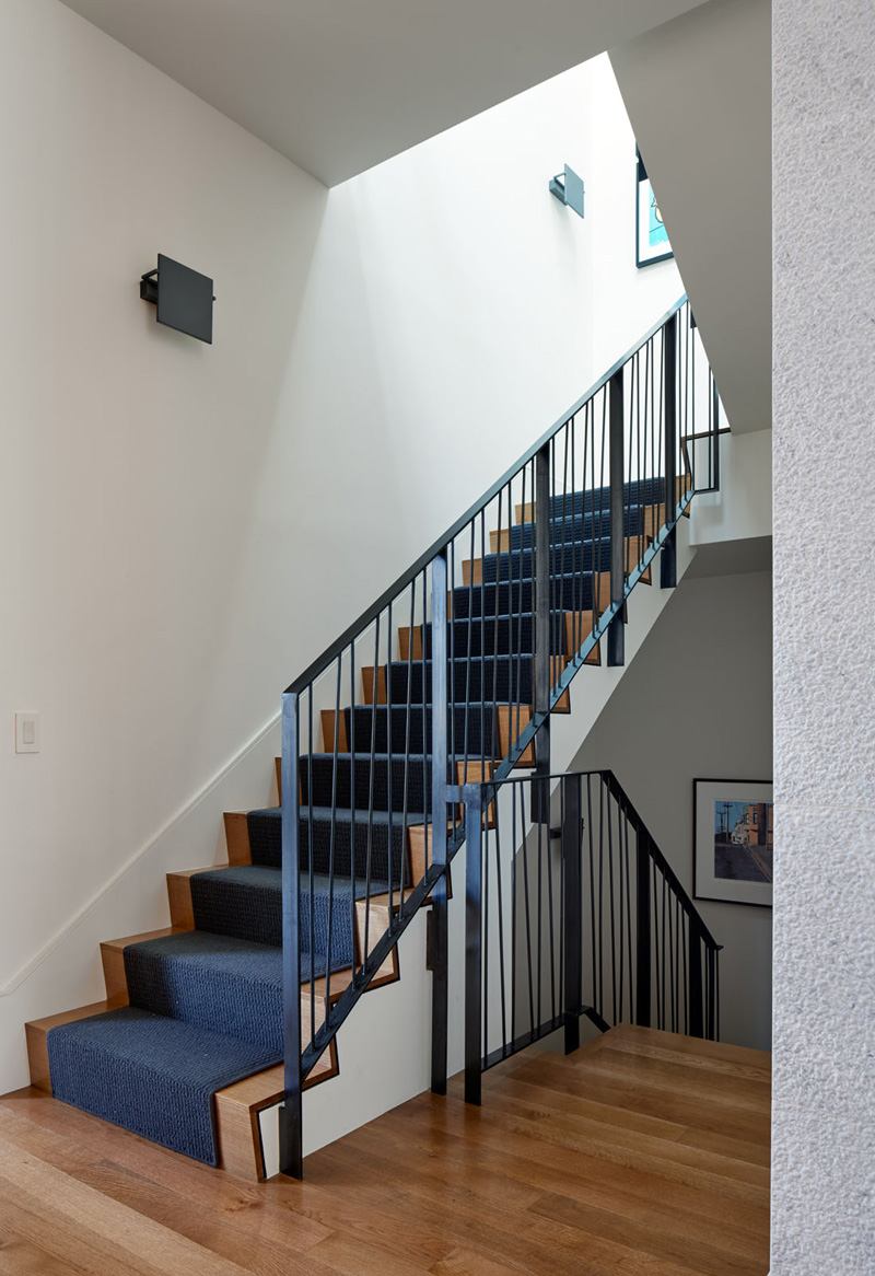 staircase Gorgeous Interior of Three Level Contemporary San