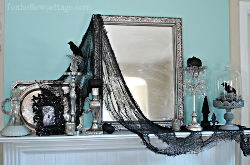 Gothic Style Haunted Halloween Mantel
