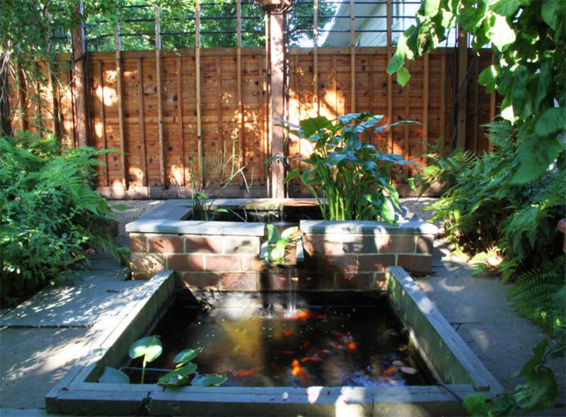 square-shaped pond