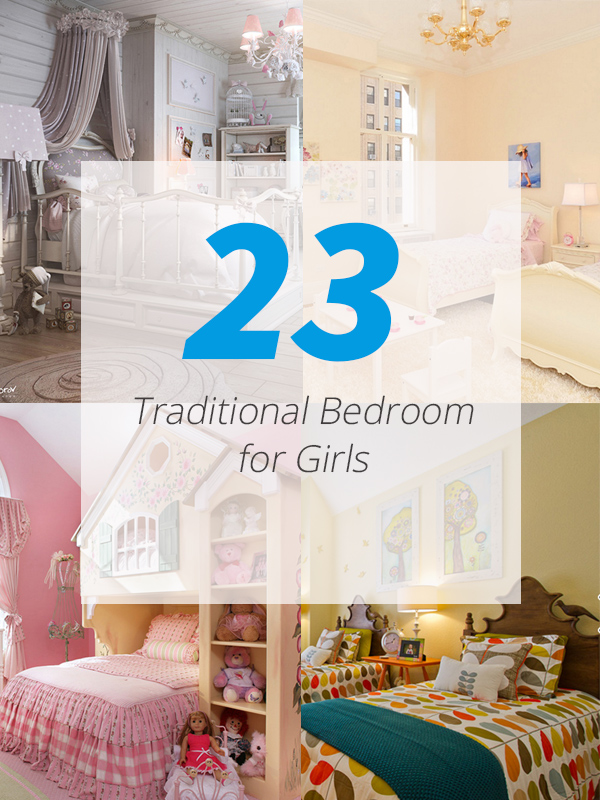 girls traditional bedrooms