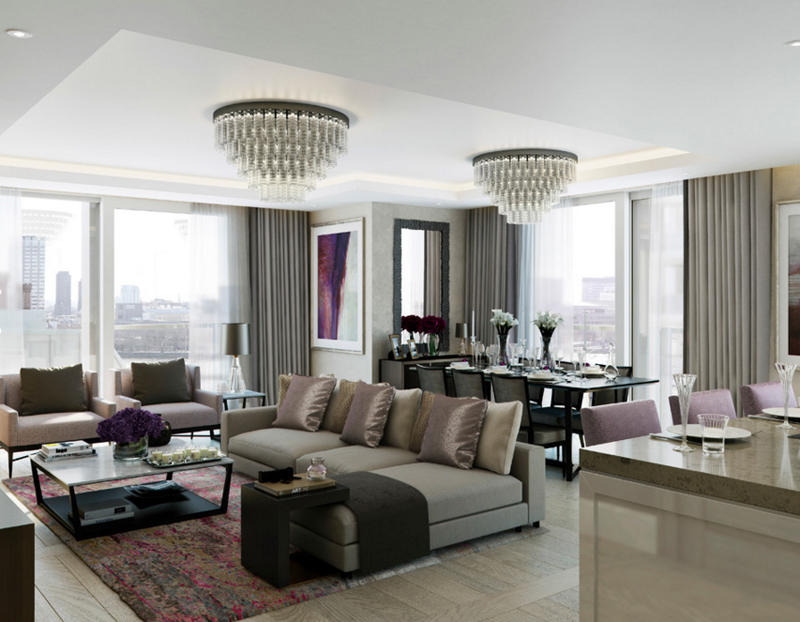 23 Stunning Crystal Chandeliers in the Living Room | Home Design Lover