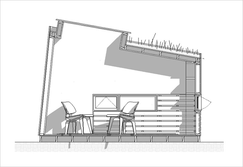 Brooklyn Garden Studio cross section