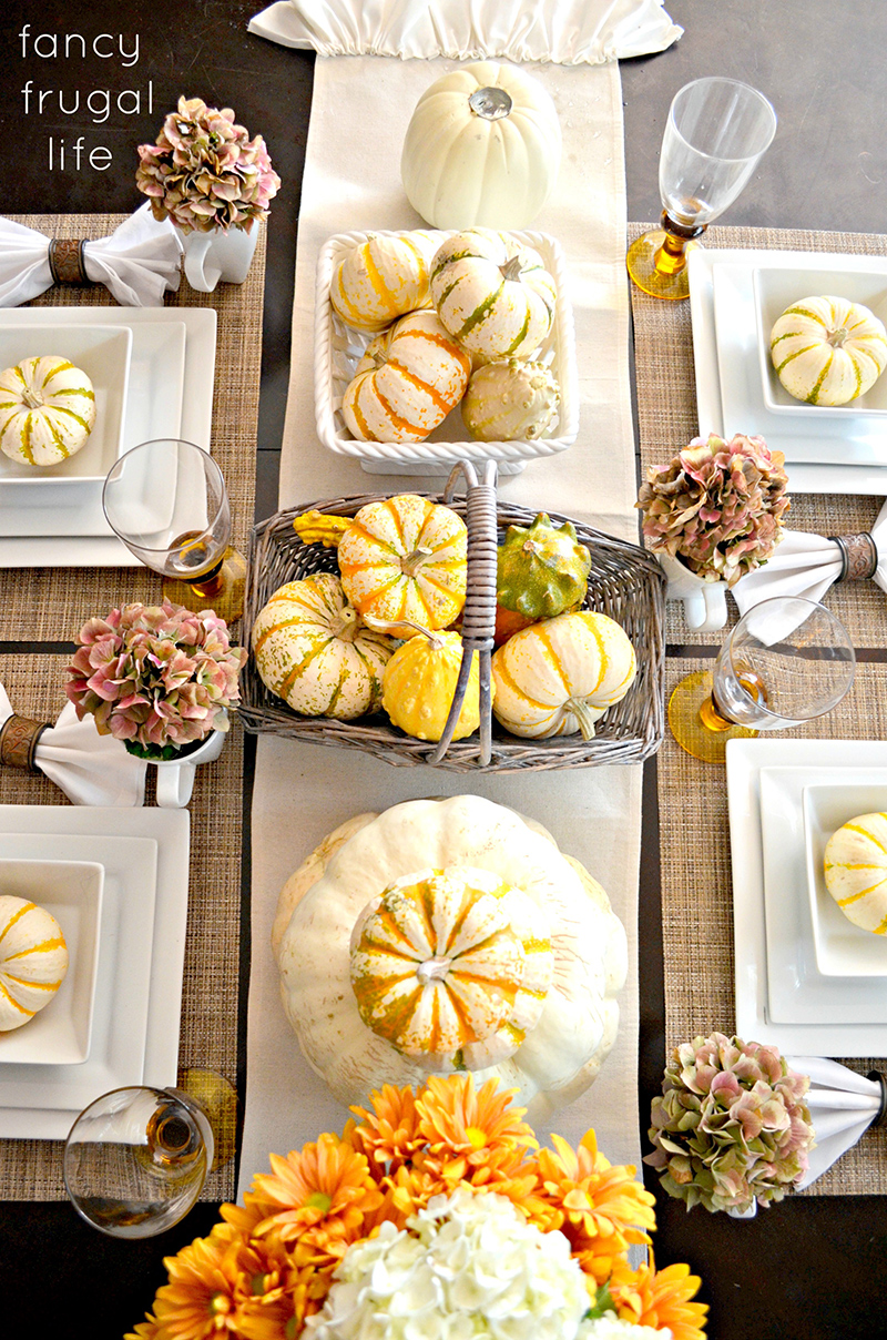 My Fancy Frugal Fall Table Setting